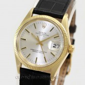 Rolex Vintage Date 1503 14K Yellow Gold Silver Stick