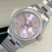 Rolex Lady Datejust 1791384 Steel Pink Diamond Dial & Bezel