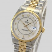 Rolex Datejust 16013 18K Gold Steel Ivory Dial