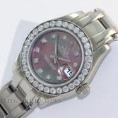 Rolex Masterpiece Pearlmaster 80299 18K White Gold MOP Diamond Dial