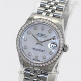 Rolex Lady Datejust 178384 Steel MOP Diamond Dial & Bezel