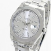 Rolex Datejust II Ref 116300 Silver Index Stainless Steel