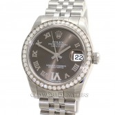 Rolex Midsize Datejust 178384 Steel Bronze Diamond Dial & Bezel
