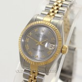 Rolex Lady Datejust 69173 Steel 18K Gold Rhodium Roman Dial