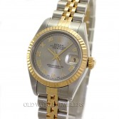 Rolex Datejust 79173 18K Gold & Steel Roman Dial