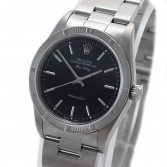 Rolex Air King Ref 14010M Steel Black Stick