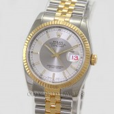 Rolex Datejust 116233 18K Gold Steel Two Tone Silver Dial