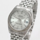 Rolex Mid Size Datejust 178274 Stainless Steel Silver Dial
