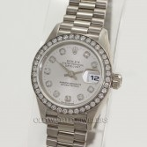 Rolex President 69179 18K White Gold Factory Diamond Dial & Bezel