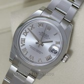 Rolex Midsize Datejust 178240 Steel Rhodium Roman