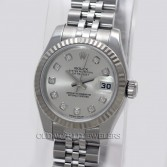 Rolex Lady Datejust 179174 Steel Silver Diamond Dial