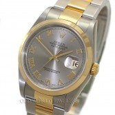Rolex Datejust 16203 18K Gold Steel Roman UNWORN