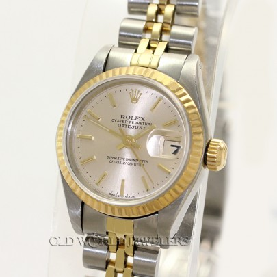 Rolex Lady Datejust 69173 18K Gold Steel Silver Stick