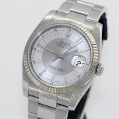 Rolex Datejust 116234 Steel 18K Gold Bezel Silver Two Tone Dial