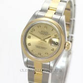 Rolex Lady Datejust 79163 18K Gold Steel Champagne Arabic Dial