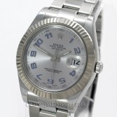 Rolex Datejust II 116334 Steel Rhodium Arabic Dial