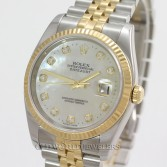 Rolex Datejust 116233 18K Gold Steel MOP Diamond Dial