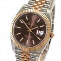 Rolex Datejust 41 Ref 126331 18K Rose Gold Steel Chocolate Dial