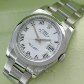 Rolex Datejust 116200 Steel White Roman Dial