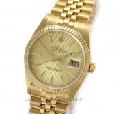 Rolex Datejust 16238 18K Yellow Gold Champagne Tapestry