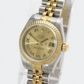 Rolex Lady Datejust 179173 18K Gold Steel Sunburst Dial