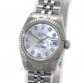 Rolex Lady Datejust 179174 Steel MOP Diamond Dial