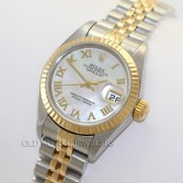 Rolex Lady Datejust 79173 18K Gold Steel MOP Roman Dial