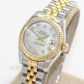 Rolex Lady Datejust Ref 179173 18K Steel MOP Diamond Dial