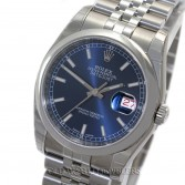 Rolex Datejust 116200 Steel Smooth Bezel Blue Stick Dial