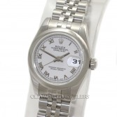 Rolex Lady Datejust 179160 Steel White Roman Dial