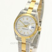 Rolex Datejust  Ref 79163 18K Gold Steel Silver Stick