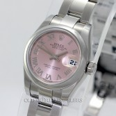 Rolex Datejust 179160 Stainless Oyster Pink Roman Dial