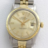 Rolex Datejust 1601 18K Gold Steel Champagne Dial
