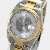 Rolex Datejust 116203 18K Gold Steel Two Tone Silver Dial