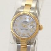 Rolex Lady Datejust 179173 18K Gold Steel MOP Diamond Dial