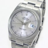 Rolex Datejust 116200 Stainless Steel Silver Stick Dial