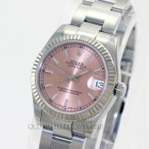 Rolex Mid Size Datejust 178274 Steel Pink Stick Dial