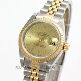 Rolex Lady Datejust 79173 18K Gold Steel Champagne Dial