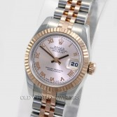 Rolex Datejust 179171 18K Rose Gold Steel Pink Roman Dial