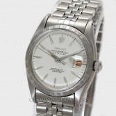Rolex Datejust Ref 6605 Steel White Dial Applied Arrow Markers