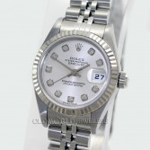 Rolex Lady Datejust 79174 Steel Silver Diamond Dial