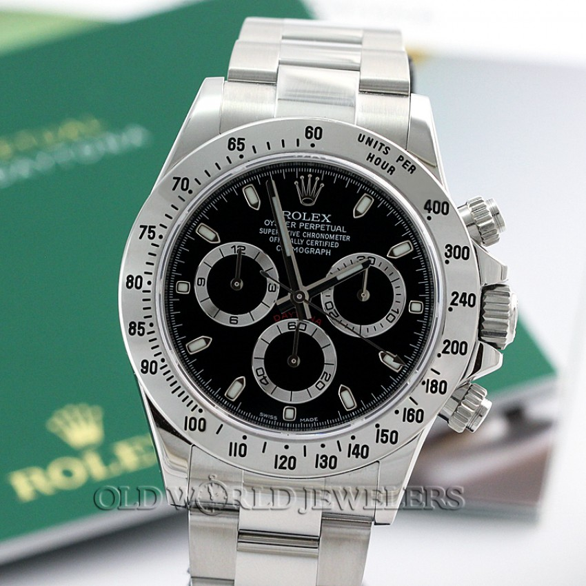 22bc7ea782b9f Rolex Daytona Cosmograph Ref 116520 Stainless Steel Black Dial