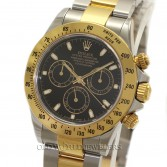 Rolex Daytona 116523 18K Gold Steel Black Dial