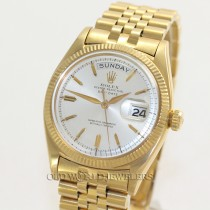 Rolex Vintage Day Date President Ref 6611B 18K Gold Silver Pie Pan Dial