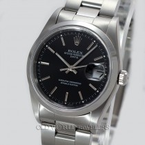Rolex Oyster Perpetual Date Ref 15200 Steel Black Dial