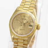 Rolex Lady President Datejust 69178 18K Gold Champagne Diamond Dial