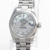 Rolex Lady President Datejust 179166 Platinum MOP Diamond Dial