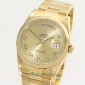 Rolex Day Date Ref 118208 18K Yellow Gold Champagne Roman