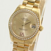 Rolex Mid Size Datejust President 178288 18K Yellow Gold Ruby VI