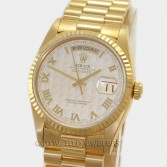 Rolex President Day Date 18238 18K Yellow Gold Ivory Pyramid Dial